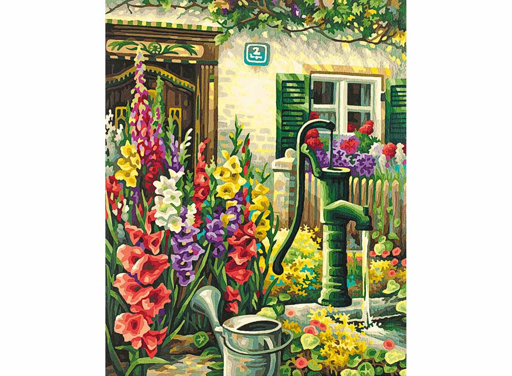 """Картина по номерам «Цветник у дома»Schipper (Шиппер)<br>Производитель наборов картин по номерам """"Schipper"""" - это исключительное качество всех составляющих. Особенностью этого бренда является то, что основа картины - высококачественный картон, покрытие которого имитирует натуральный холст. Краски """"Schipper"""" обл...<br><br>Артикул: 9130632<br>Основа: Картон<br>Сложность: сложные<br>Размер: 40x50 см<br>Количество цветов: 34<br>Техника рисования: Без смешивания красок"""