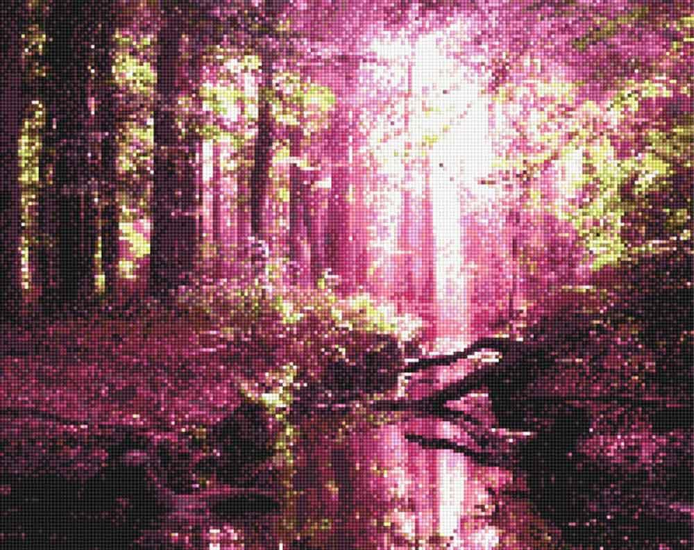 Стразы «Весенний розовый лес»Anya<br><br><br>Артикул: 914502<br>Основа: Холст без подрамника<br>Сложность: средние<br>Размер: 40x50<br>Выкладка: Полная<br>Тип страз: Квадратные