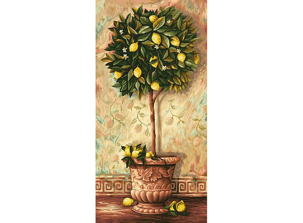 """Картина по номерам «Лимонное дерево»Schipper (Шиппер)<br>Производитель наборов картин по номерам """"Schipper"""" - это исключительное качество всех составляющих. Особенностью этого бренда является то, что основа картины - высококачественный картон, покрытие которого имитирует натуральный холст. Краски """"Schipper"""" обл...<br><br>Артикул: 9220397<br>Основа: Картон<br>Сложность: сложные<br>Размер: 40x80 см<br>Количество цветов: 36<br>Техника рисования: Без смешивания красок"""