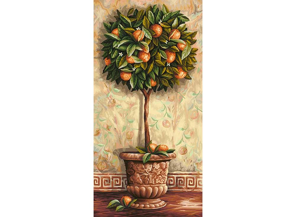 """«Апельсиновое дерево»Schipper (Шиппер)<br>Производитель наборов картин по номерам """"Schipper"""" - это исключительное качество всех составляющих. Особенностью этого бренда является то, что основа картины - высококачественный картон, покрытие которого имитирует натуральный холст. Краски """"Schipper"""" обл...<br><br>Артикул: 9220398<br>Основа: Картон<br>Сложность: сложные<br>Размер: 40x80 см<br>Количество цветов: 36<br>Техника рисования: Без смешивания красок"""