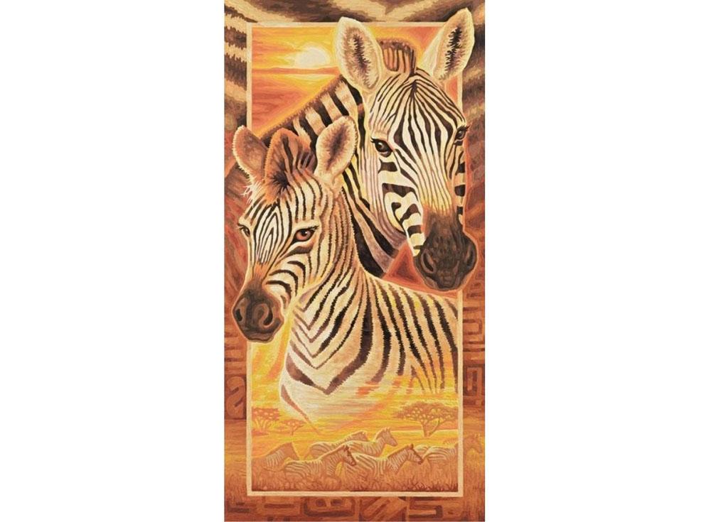 """Картина по номерам «Зебры»Schipper (Шиппер)<br>Производитель наборов картин по номерам """"Schipper"""" - это исключительное качество всех составляющих. Особенностью этого бренда является то, что основа картины - высококачественный картон, покрытие которого имитирует натуральный холст. Краски """"Schipper"""" обл...<br><br>Артикул: 9220473<br>Основа: Картон<br>Сложность: сложные<br>Размер: 40x80 см<br>Количество цветов: 30<br>Техника рисования: Без смешивания красок"""