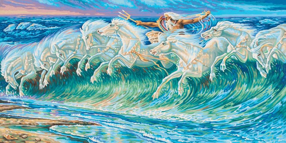 """«Нептун»Schipper (Шиппер)<br>Производитель наборов картин по номерам """"Schipper"""" - это исключительное качество всех составляющих. Особенностью этого бренда является то, что основа картины - высококачественный картон, покрытие которого имитирует натуральный холст. Краски """"Schipper"""" обл...<br><br>Артикул: 9220711<br>Основа: Картон<br>Сложность: сложные<br>Размер: 40x80 см<br>Количество цветов: 25<br>Техника рисования: Без смешивания красок"""