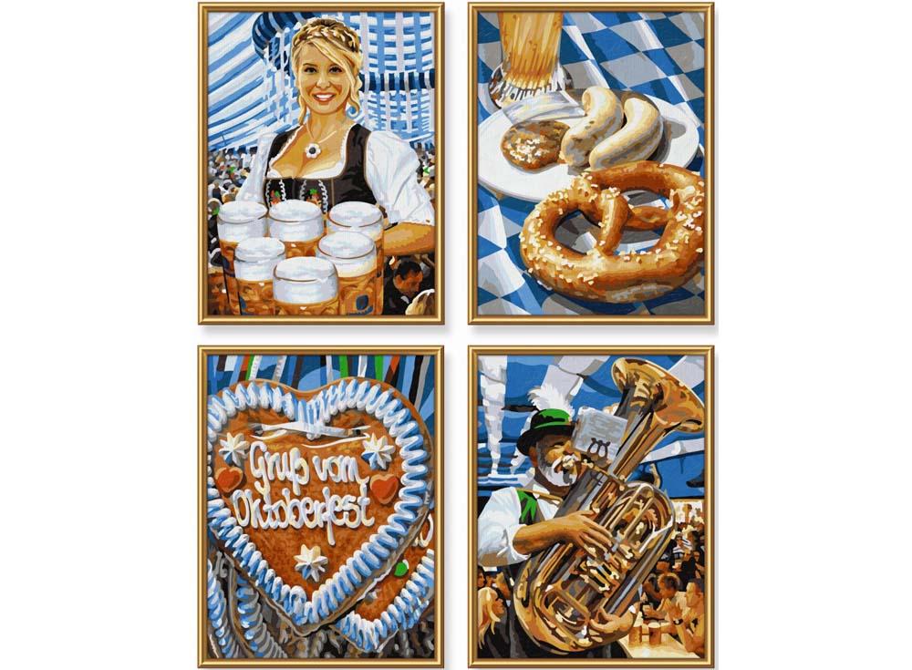 """Картина по номерам «Пивной фестиваль в Мюнхене»Schipper (Шиппер)<br>Производитель наборов картин по номерам """"Schipper"""" - это исключительное качество всех составляющих. Особенностью этого бренда является то, что основа картины - высококачественный картон, покрытие которого имитирует натуральный холст. Краски """"Schipper"""" обл...<br><br>Артикул: 9340723<br>Основа: Картон<br>Сложность: сложные<br>Размер: 18x24 см<br>Количество цветов: 25<br>Техника рисования: Без смешивания красок"""
