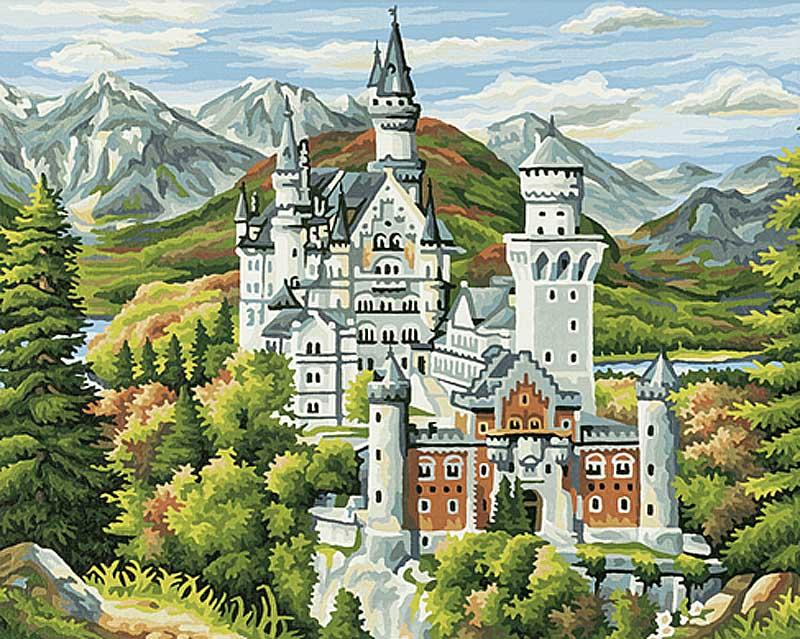"""«Замок Нойшванштайн»Schipper (Шиппер)<br>Производитель наборов картин по номерам """"Schipper"""" - это исключительное качество всех составляющих. Особенностью этого бренда является то, что основа картины - высококачественный картон, покрытие которого имитирует натуральный холст. Краски """"Schipper"""" обл...<br><br>Артикул: 9350551<br>Основа: Картон<br>Сложность: сложные<br>Размер: 40x50<br>Количество цветов: 24<br>Техника рисования: Без смешивания красок"""