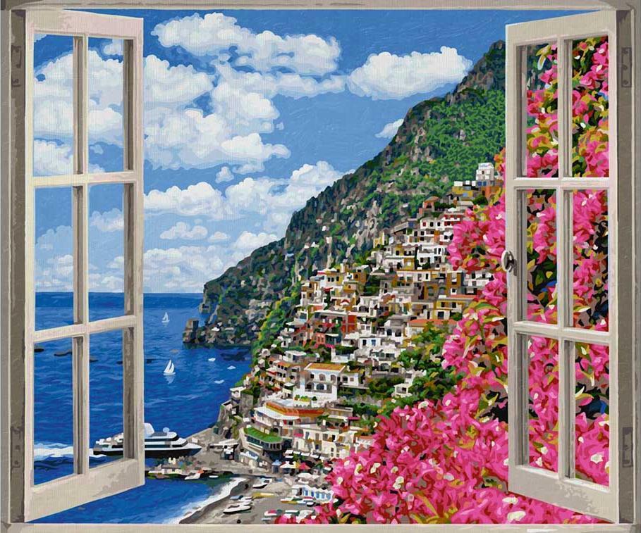 Картина по номерам «Позитиано на Амальфийском побережье»Schipper (Шиппер)<br><br><br>Артикул: 9360724<br>Основа: Картон<br>Сложность: сложные<br>Размер: 50x60 см<br>Количество цветов: 36<br>Техника рисования: Без смешивания красок