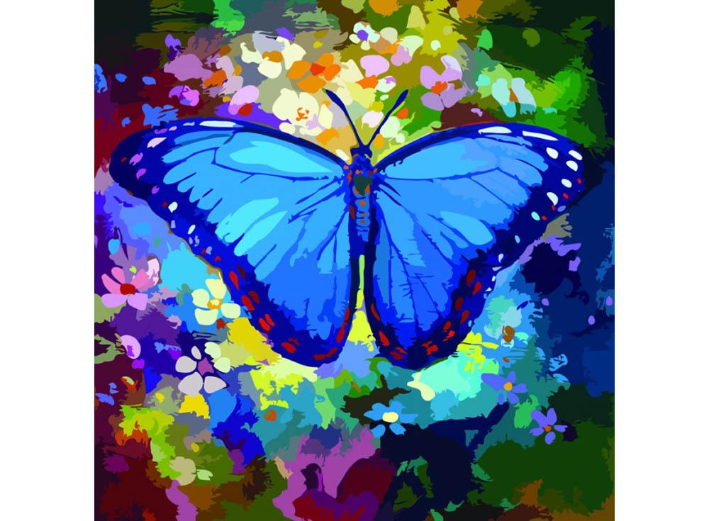 Картина по номерам «Голубая симфония»Раскраски по номерам Color Kit<br><br><br>Артикул: CD009<br>Основа: Холст<br>Сложность: средние<br>Размер: 30x30 см<br>Количество цветов: 25<br>Техника рисования: Без смешивания красок