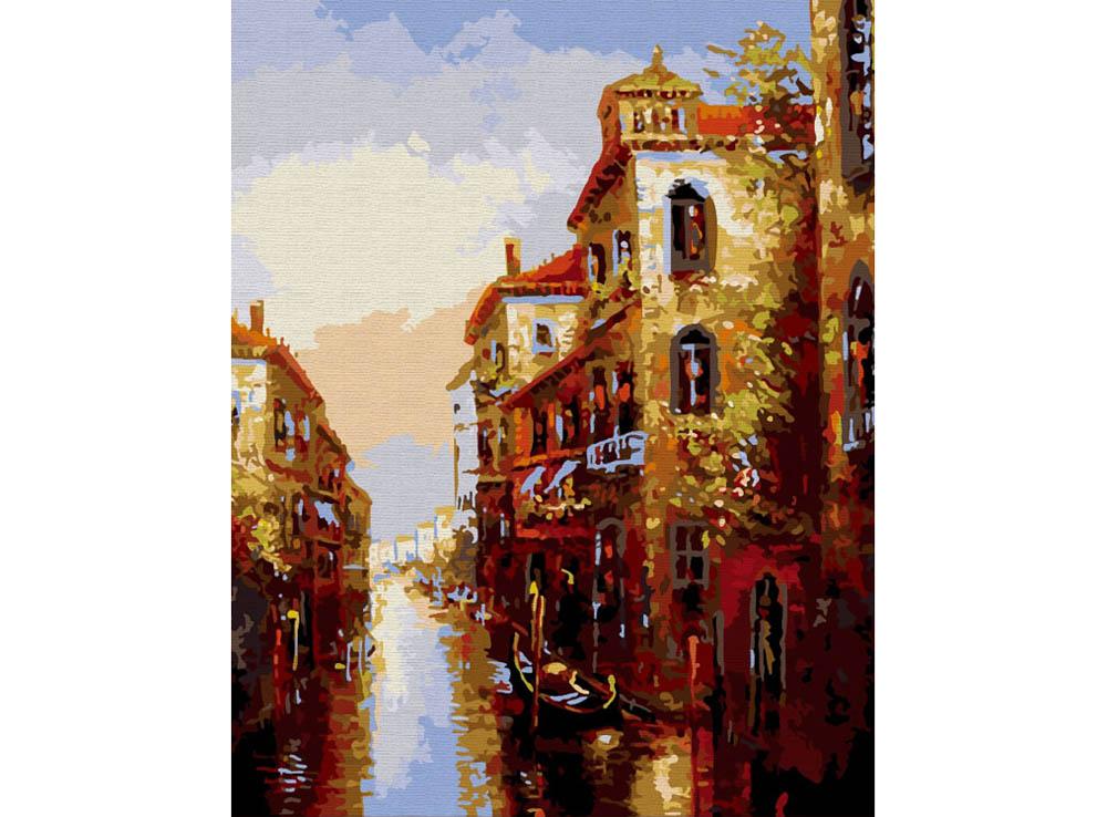 «Канал в Венеции»Раскраски по номерам Color Kit<br><br><br>Артикул: CG010<br>Основа: Холст<br>Сложность: сложные<br>Размер: 40x50 см<br>Количество цветов: 25<br>Техника рисования: Без смешивания красок