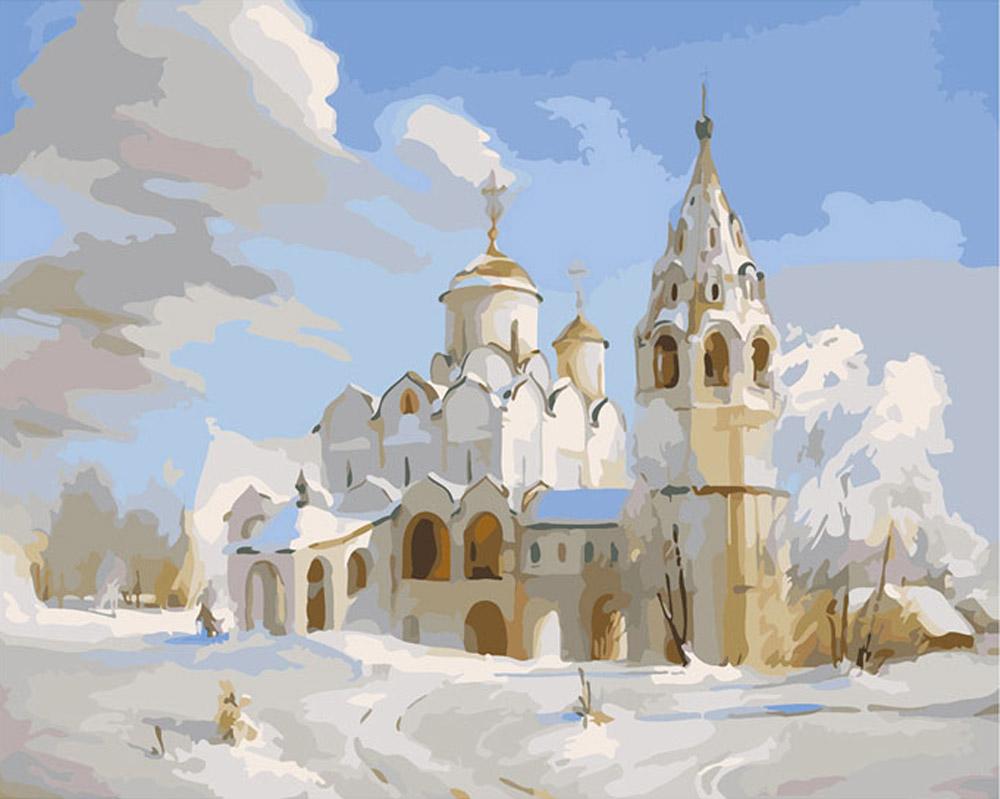 «Зимняя церковь»Раскраски по номерам Color Kit<br><br><br>Артикул: CG613<br>Основа: Холст<br>Сложность: средние<br>Размер: 40x50<br>Количество цветов: 25<br>Техника рисования: Без смешивания красок