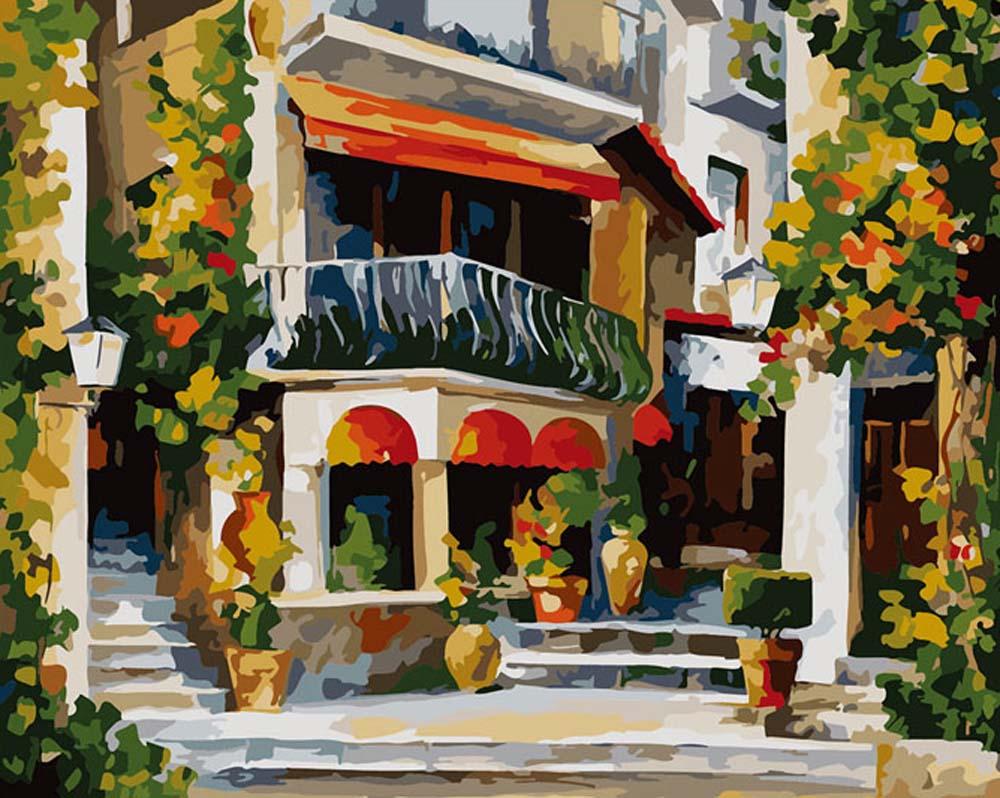 Картина по номерам «Уютный дворик»Раскраски по номерам Color Kit<br><br>