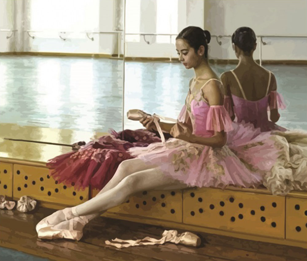 «Балерина в розовом»Раскраски по номерам Color Kit<br><br><br>Артикул: CG624<br>Основа: Холст<br>Сложность: средние<br>Размер: 40x50 см<br>Количество цветов: 28<br>Техника рисования: Без смешивания красок