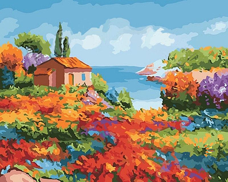 «Волшебный сад»Hobbart<br><br><br>Артикул: DZ4050003<br>Основа: Холст<br>Сложность: средние<br>Размер: 40x50 см<br>Количество цветов: 28<br>Техника рисования: Без смешивания красок
