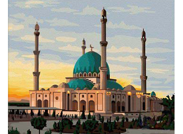 Картина по номерам «Мечеть»Hobbart<br><br><br>Артикул: DZ4050007<br>Основа: Холст<br>Сложность: сложные<br>Размер: 40x50 см<br>Количество цветов: 31<br>Техника рисования: Без смешивания красок
