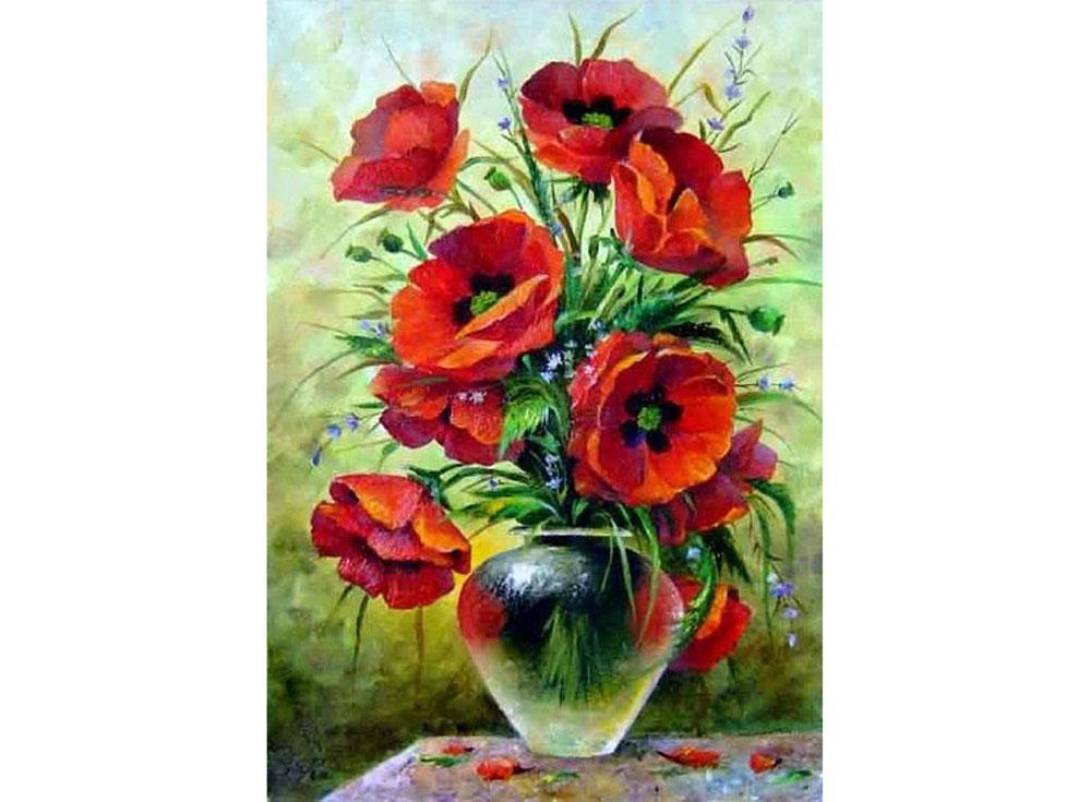 «Маковый»Hobbart<br><br><br>Артикул: DZ4050016<br>Основа: Холст<br>Сложность: сложные<br>Размер: 40x50 см<br>Количество цветов: 33<br>Техника рисования: Без смешивания красок