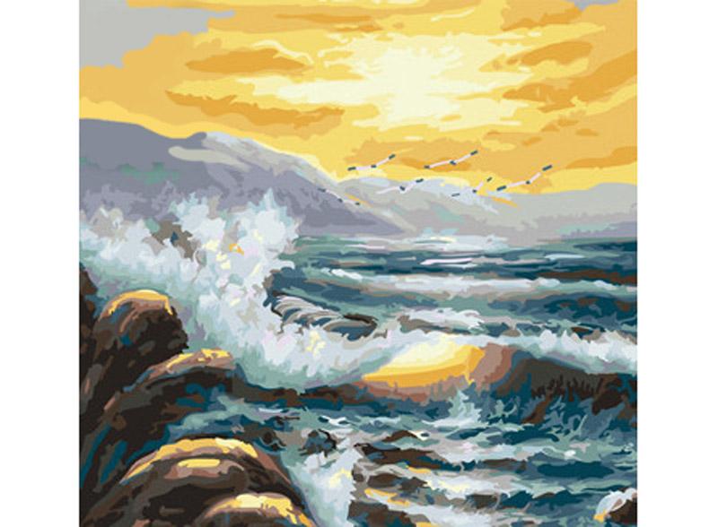 «Море бушует»Hobbart<br><br><br>Артикул: HB4040013<br>Основа: Холст<br>Сложность: сложные<br>Размер: 40x40 см<br>Количество цветов: 25<br>Техника рисования: Без смешивания красок