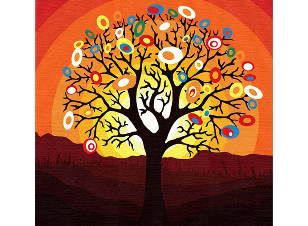 Картина по номерам «Дерево надежд»Hobbart<br><br><br>Артикул: HB4040028<br>Основа: Холст<br>Сложность: легкие<br>Размер: 40x40 см<br>Количество цветов: 17<br>Техника рисования: Без смешивания красок