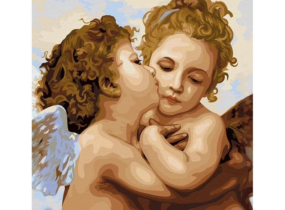 Картина по номерам «Ангелы»Hobbart<br><br><br>Артикул: HB4040038<br>Основа: Холст<br>Сложность: средние<br>Размер: 40x40 см<br>Количество цветов: 26<br>Техника рисования: Без смешивания красок