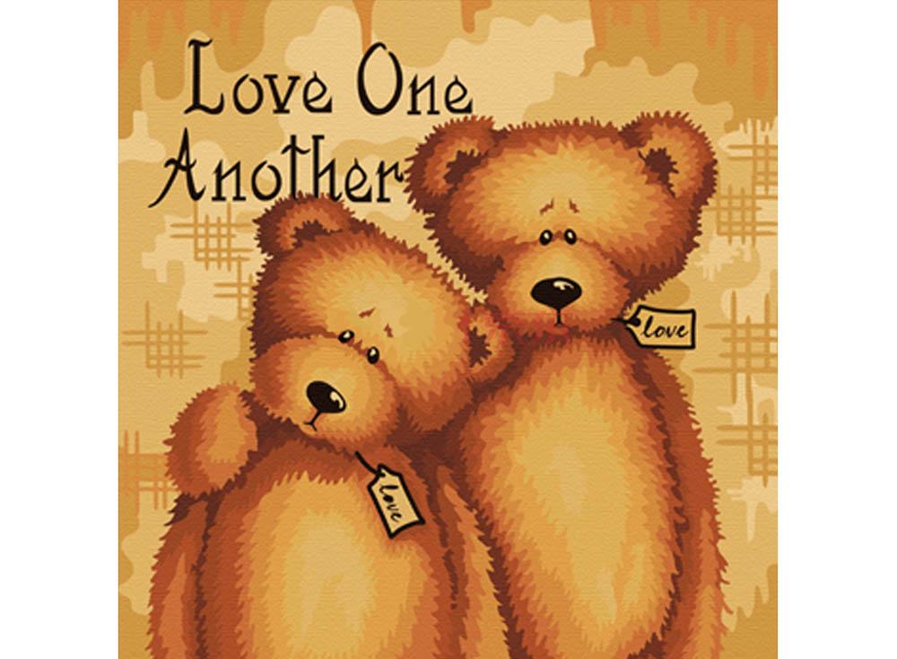 Картина по номерам «Любите друг друга»Hobbart<br><br><br>Артикул: HB4040043<br>Основа: Холст<br>Сложность: легкие<br>Размер: 40x40 см<br>Количество цветов: 9<br>Техника рисования: Без смешивания красок