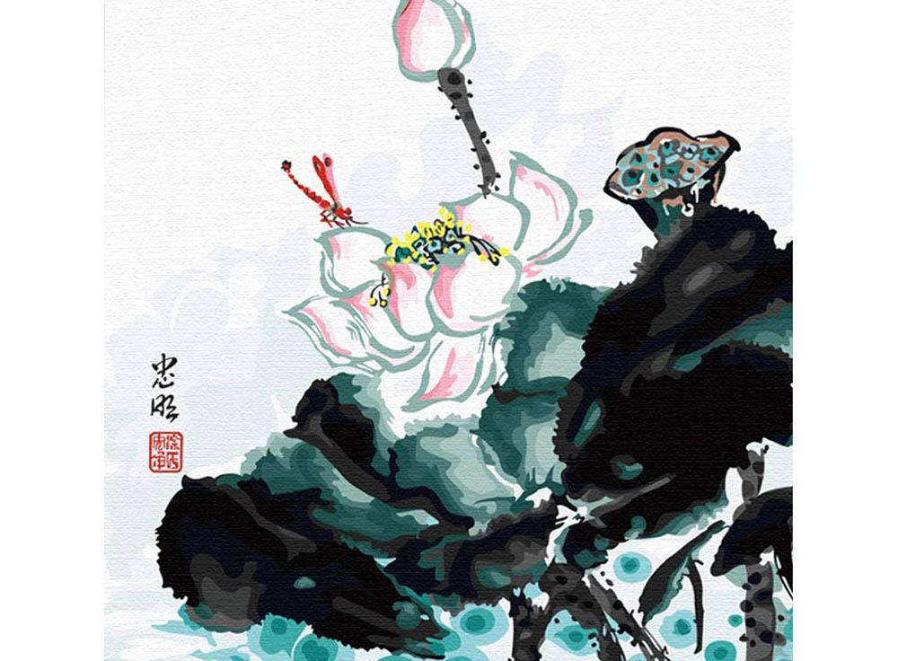 «Лотос. Китайской тушью»Hobbart<br><br><br>Артикул: HB4040047<br>Основа: Холст<br>Сложность: сложные<br>Размер: 40x40 см<br>Количество цветов: 25<br>Техника рисования: Без смешивания красок