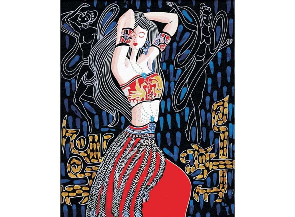 «Танцовщица»Hobbart<br><br><br>Артикул: HB4050015<br>Основа: Холст<br>Сложность: очень сложные<br>Размер: 40x50<br>Количество цветов: 20<br>Техника рисования: Без смешивания красок