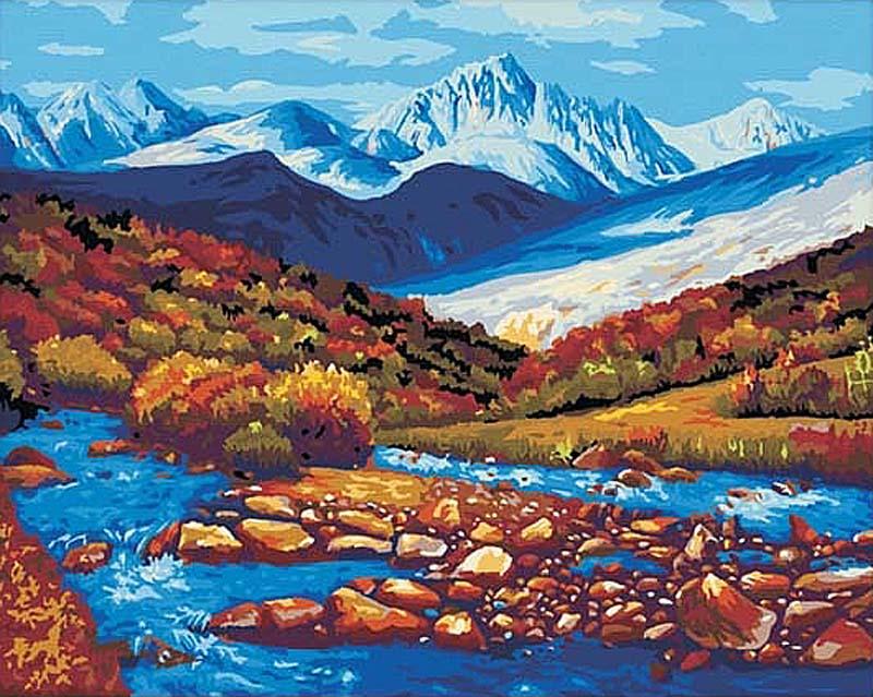 «Горная речка»Hobbart<br><br><br>Артикул: HB4050031<br>Основа: Холст<br>Сложность: очень сложные<br>Размер: 40x50 см<br>Количество цветов: 30<br>Техника рисования: Без смешивания красок