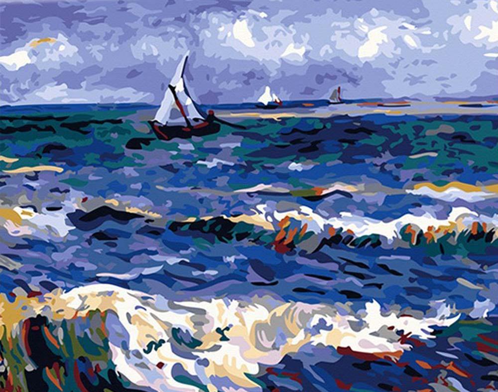 «Морской пейзаж в Сент-Мари» Ван ГогаHobbart<br><br><br>Артикул: HB4050096<br>Основа: Холст<br>Сложность: сложные<br>Размер: 40x50<br>Количество цветов: 25<br>Техника рисования: Без смешивания красок
