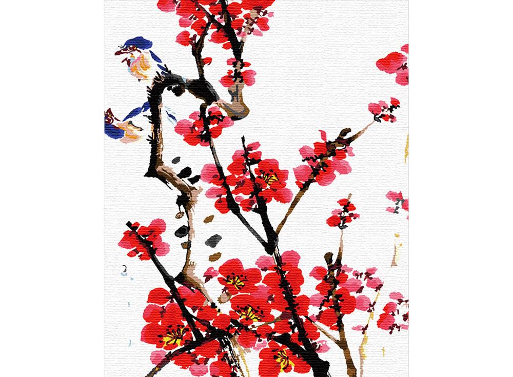 «Четыре благородных цветка: Слива»Hobbart<br><br><br>Артикул: HB4050153<br>Основа: Холст<br>Сложность: легкие<br>Размер: 40x50 см<br>Количество цветов: 25<br>Техника рисования: Без смешивания красок