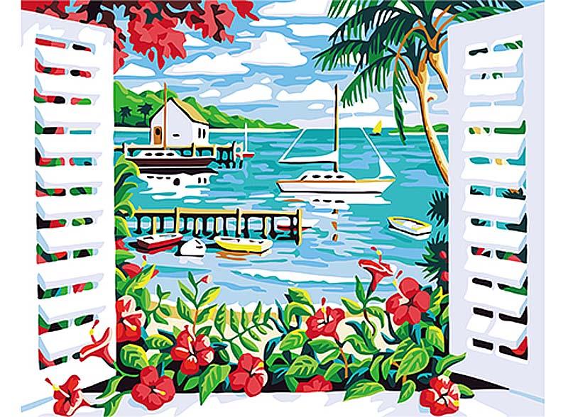 Картина по номерам «Отпуск в раю»Hobbart<br><br><br>Артикул: HB4050287<br>Основа: Холст<br>Сложность: сложные<br>Размер: 40x50 см<br>Количество цветов: 25<br>Техника рисования: Без смешивания красок