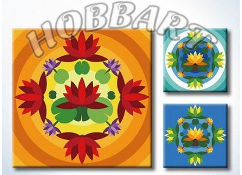 Картина по номерам «Мандала для раскрашивания №02»Hobbart<br><br><br>Артикул: MT4040002<br>Основа: Холст<br>Сложность: легкие<br>Размер: 40x40 см<br>Количество цветов: 23<br>Техника рисования: Без смешивания красок