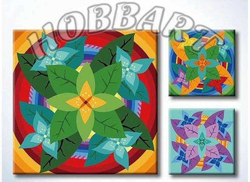 «Мандала для раскрашивания №05»Hobbart<br><br><br>Артикул: MT4040005<br>Основа: Холст<br>Сложность: легкие<br>Размер: 40x40 см<br>Количество цветов: 23<br>Техника рисования: Без смешивания красок