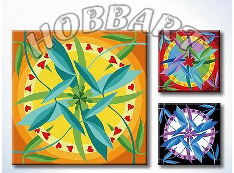 Картина по номерам «Мандала для раскрашивания №06»Hobbart<br><br><br>Артикул: MT4040006<br>Основа: Холст<br>Сложность: легкие<br>Размер: 40x40 см<br>Количество цветов: 23<br>Техника рисования: Без смешивания красок