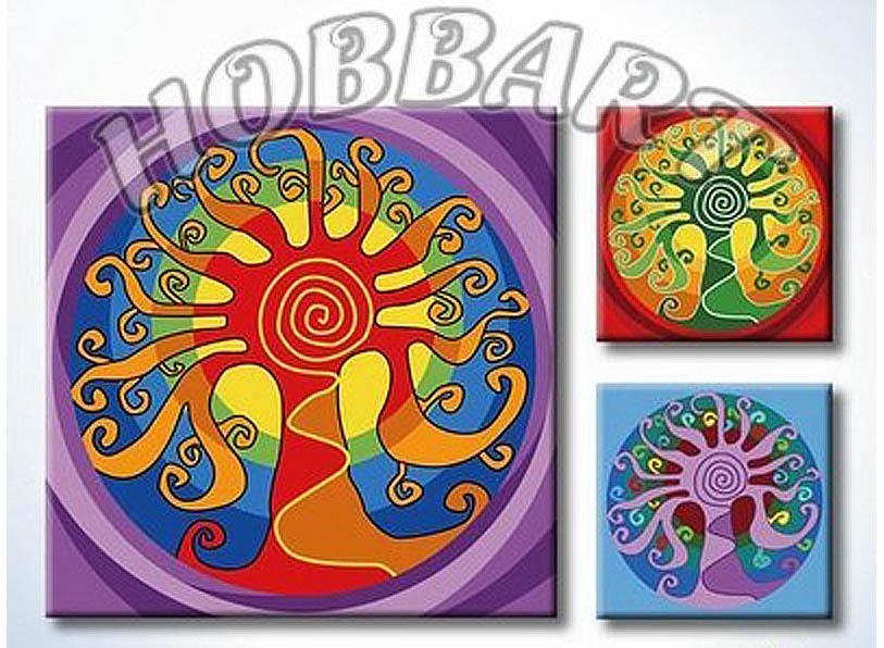 «Мандала для раскрашивания №10»Hobbart<br><br><br>Артикул: MT4040010<br>Основа: Холст<br>Сложность: легкие<br>Размер: 40x40 см<br>Количество цветов: 23<br>Техника рисования: Без смешивания красок