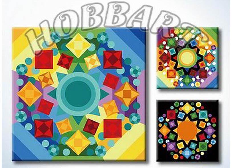«Мандала для раскрашивания №11»Hobbart<br><br><br>Артикул: MT4040011<br>Основа: Холст<br>Сложность: легкие<br>Размер: 40x40 см<br>Количество цветов: 23<br>Техника рисования: Без смешивания красок
