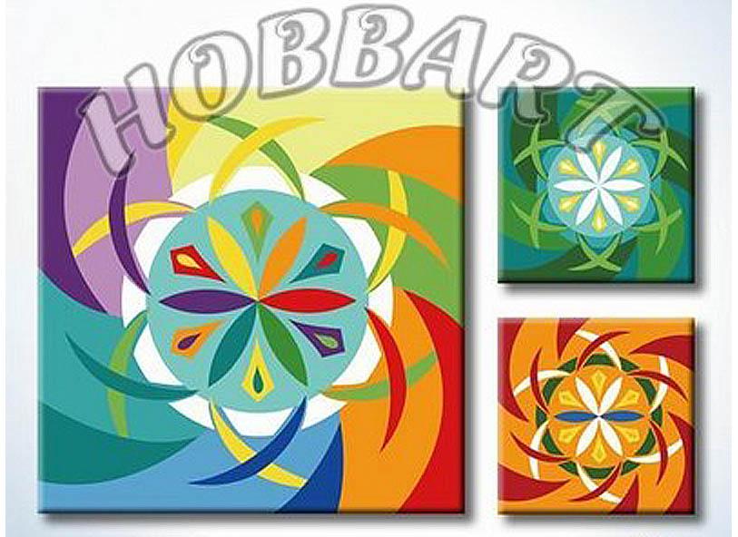 Картина по номерам «Мандала для раскрашивания №15»Hobbart<br><br><br>Артикул: MT4040015<br>Основа: Холст<br>Сложность: легкие<br>Размер: 40x40 см<br>Количество цветов: 23<br>Техника рисования: Без смешивания красок