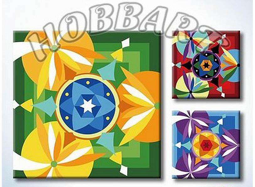 «Мандала для раскрашивания №17»Hobbart<br><br><br>Артикул: MT4040017<br>Основа: Холст<br>Сложность: легкие<br>Размер: 40x40 см<br>Количество цветов: 23<br>Техника рисования: Без смешивания красок