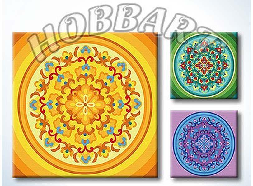 «Мандала для раскрашивания №29»Hobbart<br><br><br>Артикул: MT4040029<br>Основа: Холст<br>Сложность: легкие<br>Размер: 40x40<br>Количество цветов: 23<br>Техника рисования: Без смешивания красок