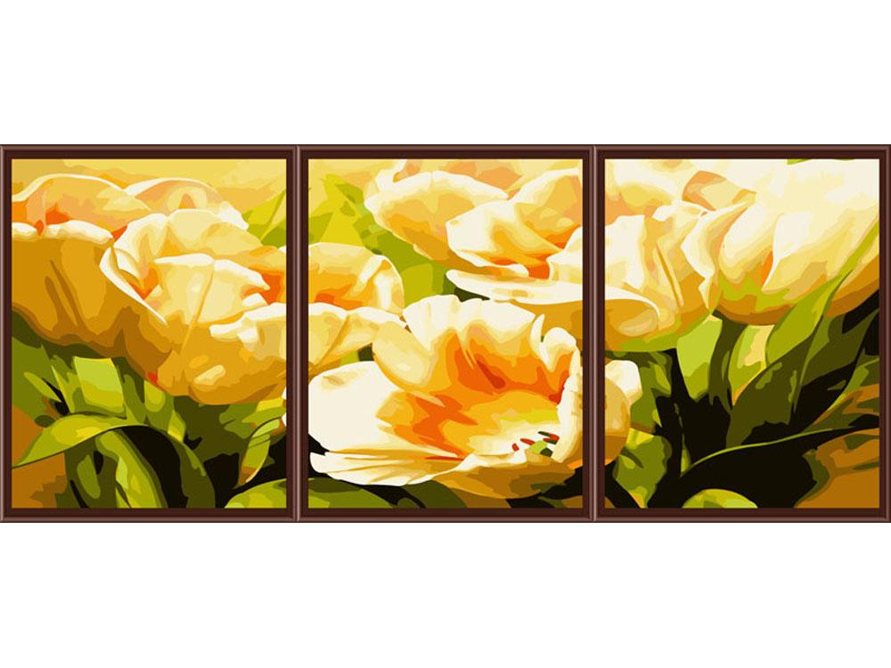 «Тюльпаны»Раскраски по номерам Color Kit<br><br><br>Артикул: P054<br>Основа: Холст<br>Сложность: сложные<br>Размер: 3 шт. 40х50 см<br>Количество цветов: 25<br>Техника рисования: Без смешивания красок