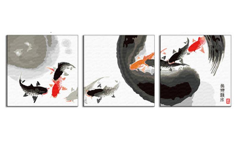 «Круговорот»Hobbart<br><br><br>Артикул: PH340120024<br>Основа: Холст<br>Сложность: сложные<br>Размер: 3 шт. 40x40 см<br>Количество цветов: 25<br>Техника рисования: Без смешивания красок