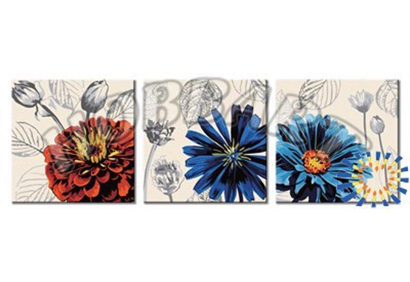 «Пышноцветы»Hobbart<br><br><br>Артикул: PH340120052<br>Основа: Холст<br>Сложность: сложные<br>Размер: 3 шт. 40x40 см<br>Количество цветов: 25<br>Техника рисования: Без смешивания красок