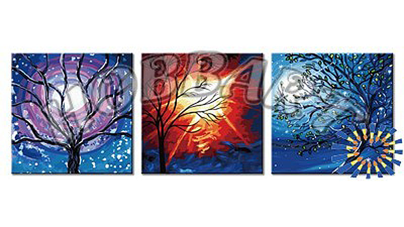 «Мистический свет»Hobbart<br><br><br>Артикул: PH340120069<br>Основа: Холст<br>Сложность: очень сложные<br>Размер: 3 шт. 40x40 см<br>Количество цветов: 40<br>Техника рисования: Без смешивания красок
