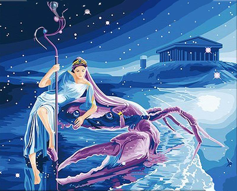 Картина по номерам «Магия знаков. Рак» Ютака КагаяРаскраски по номерам<br><br>