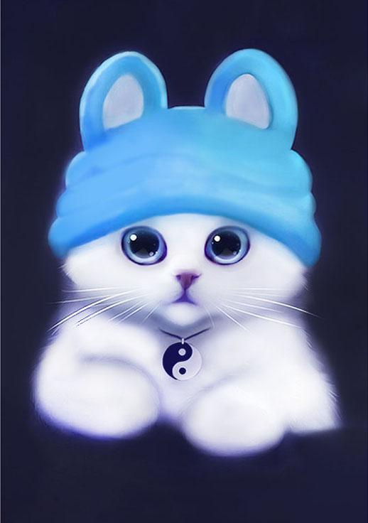 Алмазная вышивка «Белый котик в шапочке» Ричарда ДонскисаАлмазная вышивка Гранни<br><br><br>Артикул: AG029<br>Основа: Холст без подрамника<br>Сложность: сложные<br>Размер: 19x27 см<br>Выкладка: Полная<br>Количество цветов: 17<br>Тип страз: Квадратные