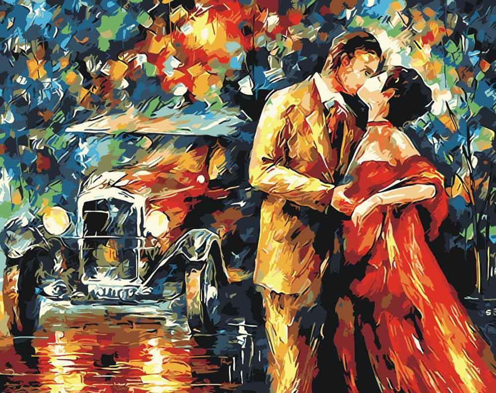 «Вечер. Поцелуй» Леонида АфремоваPaintboy (Premium)<br><br><br>Артикул: GX9047<br>Основа: Холст<br>Сложность: сложные<br>Размер: 40x50<br>Количество цветов: 25<br>Техника рисования: Без смешивания красок