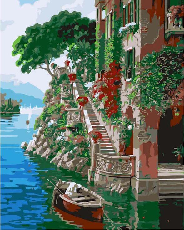 Картина по номерам «Красочная пристань» Роберта ПежманаРаскраски по номерам<br><br>