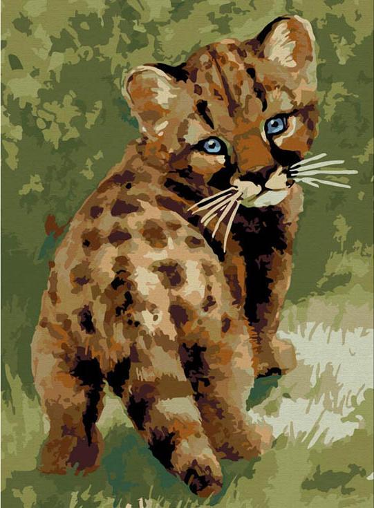 «Детеныш леопарда»Картины по номерам Белоснежка<br><br><br>Артикул: 008-CE<br>Основа: Холст<br>Сложность: средние<br>Размер: 30x40 см<br>Количество цветов: 20<br>Техника рисования: Без смешивания красок