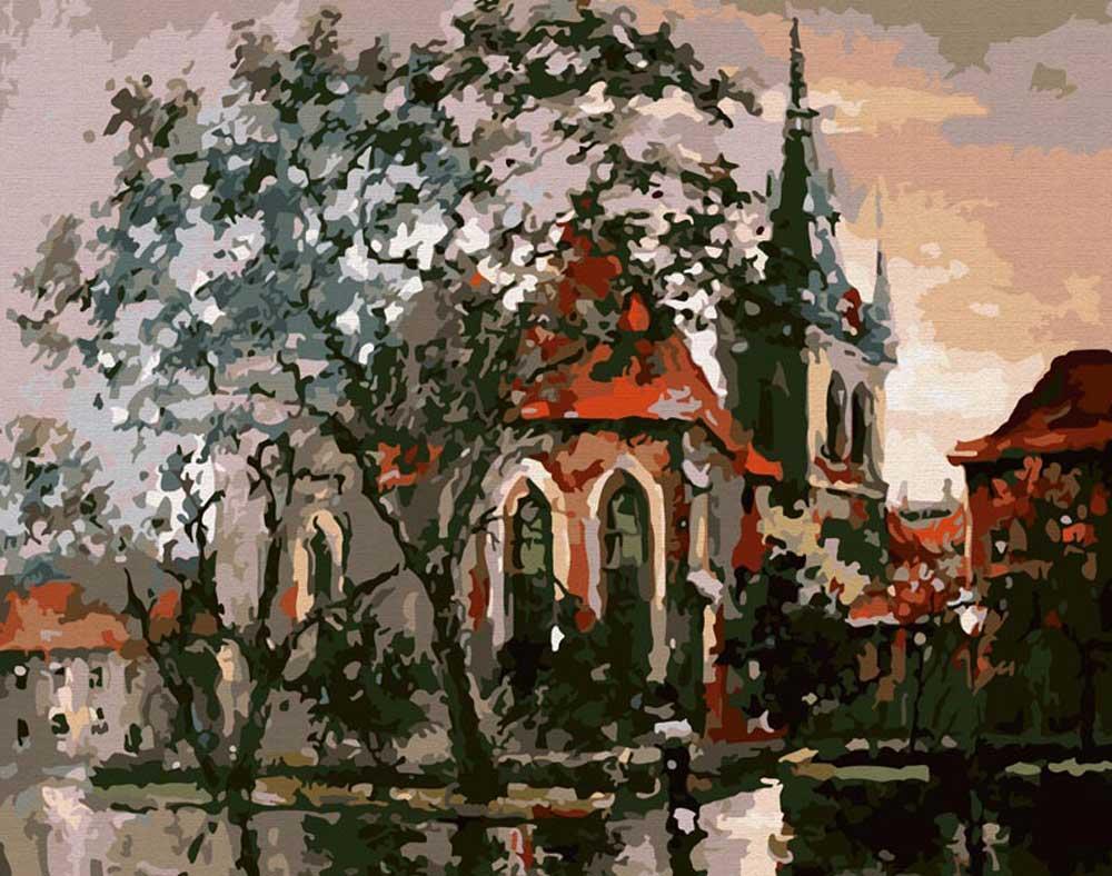 Картина по номерам «Осень в Праге»Картины по номерам Белоснежка<br><br><br>Артикул: 008-CG<br>Основа: Холст<br>Сложность: средние<br>Размер: 40x50 см<br>Количество цветов: 19<br>Техника рисования: Без смешивания красок