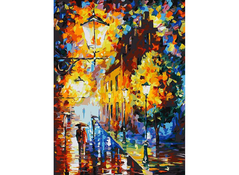 «Огни в ночи» Леонида АфремоваРаскраски по номерам Color Kit<br><br><br>Артикул: CG004<br>Основа: Холст<br>Сложность: средние<br>Размер: 40x50 см<br>Количество цветов: 22<br>Техника рисовани: Без смешивани красок