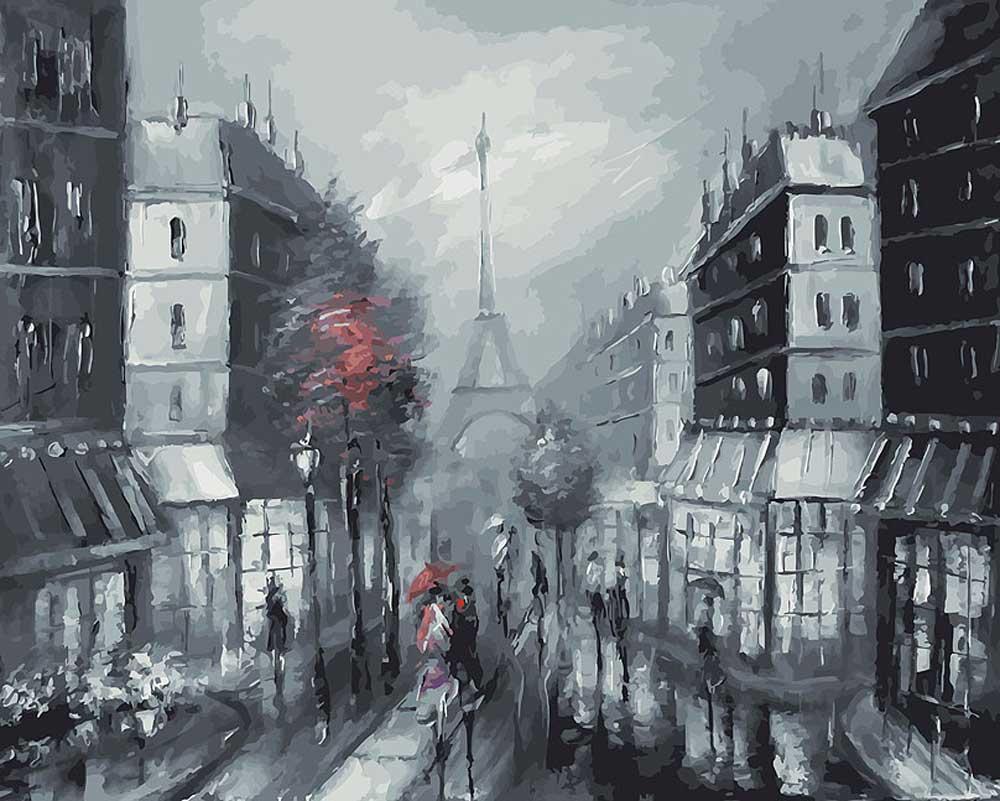 «Париж» Лианы МоисеевойКартины по номерам Белоснежка<br><br><br>Артикул: 032-AB<br>Основа: Холст<br>Сложность: очень сложные<br>Размер: 40x50 см<br>Количество цветов: 28<br>Техника рисования: Без смешивания красок
