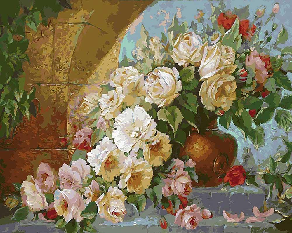 «Солнечные цветы» Антонио ДжанильяттиКартины по номерам Белоснежка<br><br><br>Артикул: 035-AB<br>Основа: Холст<br>Сложность: очень сложные<br>Размер: 40x50<br>Количество цветов: 40<br>Техника рисования: Без смешивания красок