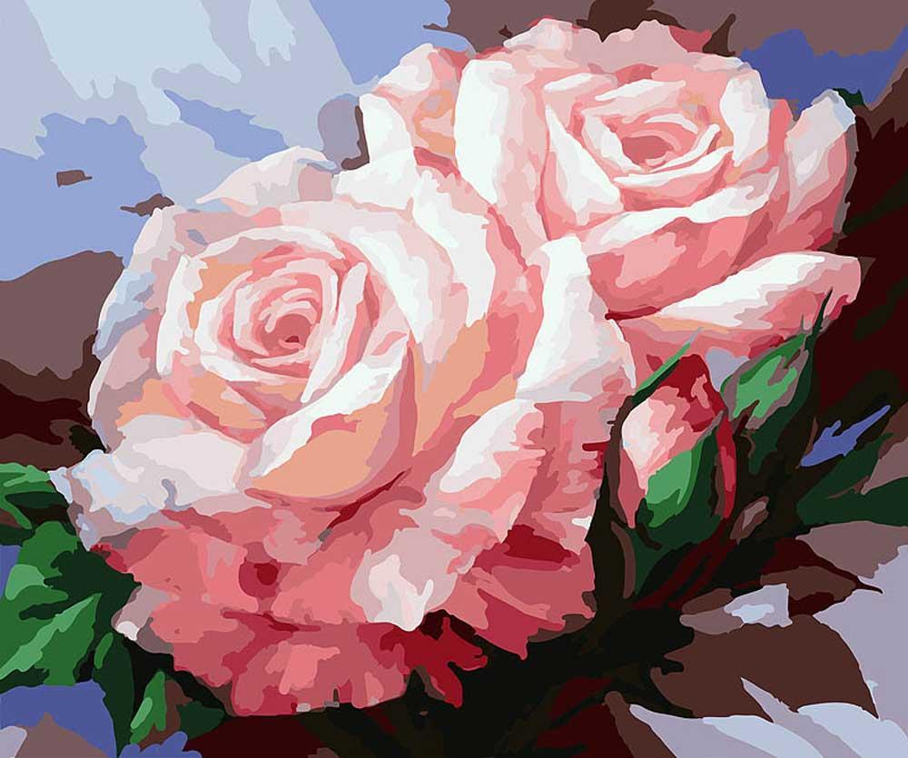 Картина по номерам «Нежные розы»Картины по номерам Белоснежка<br><br><br>Артикул: 058-CG<br>Основа: Холст<br>Сложность: сложные<br>Размер: 40x50 см<br>Количество цветов: 30<br>Техника рисования: Без смешивания красок