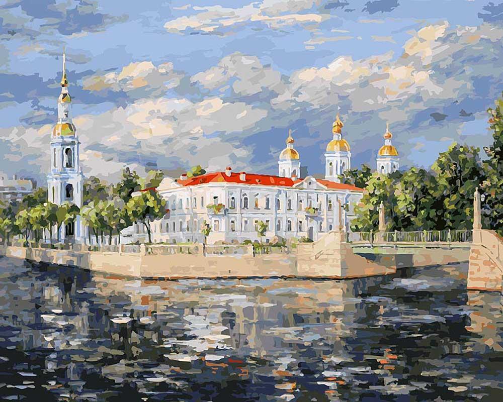 Картина по номерам «Вид на Никольский собор»Раскраски по номерам<br><br>